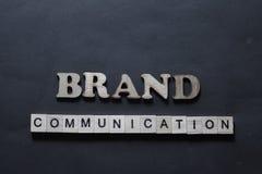 Επικοινωνία εμπορικών σημάτων Έννοια τυπογραφίας λέξεων επιχειρησιακού μάρκετινγκ στοκ φωτογραφίες