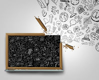 Επικοινωνία επιχειρηματικών σχεδίων Στοκ φωτογραφία με δικαίωμα ελεύθερης χρήσης