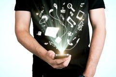 Επικοινωνία και app έννοια Στοκ εικόνες με δικαίωμα ελεύθερης χρήσης