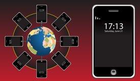 επικοινωνία κινητή ελεύθερη απεικόνιση δικαιώματος