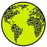 επικοινωνία παγκοσμίως Στοκ φωτογραφία με δικαίωμα ελεύθερης χρήσης