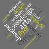 Επικοινωνία που εμπορεύεται τη γραφική αφίσα αντιπροσωπειών σχεδίου διανυσματική απεικόνιση
