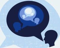 Επικοινωνία, συνεδρίαση, ομιλία Στοκ Εικόνα