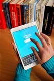 Επικοινωνία Skype Στοκ φωτογραφίες με δικαίωμα ελεύθερης χρήσης