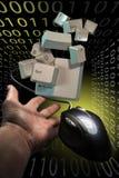 επικοινωνίες Διαδίκτυ&omicr Στοκ Φωτογραφία