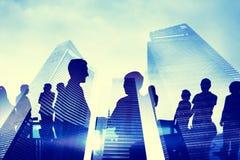 Επικοινωνίες επιχειρηματιών ομάδας που συναντούν την έννοια Στοκ Εικόνα