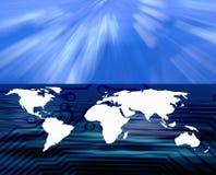επικοινωνίες παγκοσμίως διανυσματική απεικόνιση
