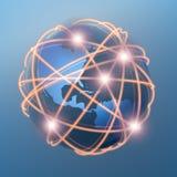 επικοινωνίες σφαιρικές Στοκ εικόνες με δικαίωμα ελεύθερης χρήσης