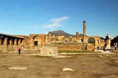 επικολλήστε την Πομπηία Βεζούβιος Στοκ Φωτογραφίες