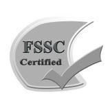 Επικυρωμένο FSSC σχέδιο έννοιας εικόνας εικονιδίων ή συμβόλων για την επιχείρηση στοκ εικόνα
