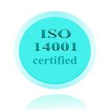 Επικυρωμένο ISO14001 σχέδιο έννοιας εικόνας εικονιδίων ή συμβόλων με το busi Στοκ Εικόνα