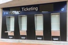 Επικόλληση ετικέτας - θάλαμος εισιτηρίων στοκ φωτογραφία με δικαίωμα ελεύθερης χρήσης
