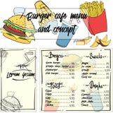 Επιλογές έννοιας γρήγορου γεύματος Στοκ φωτογραφία με δικαίωμα ελεύθερης χρήσης