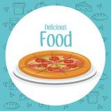 Επιλογές γρήγορου φαγητού πιτσών ελεύθερη απεικόνιση δικαιώματος