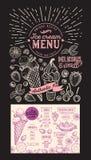 Επιλογές εστιατορίων παγωτού Διανυσματικό ιπτάμενο τροφίμων επιδορπίων για το φραγμό και Στοκ φωτογραφίες με δικαίωμα ελεύθερης χρήσης