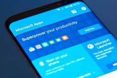 Επιλογές της Microsoft apps moblie Στοκ φωτογραφία με δικαίωμα ελεύθερης χρήσης