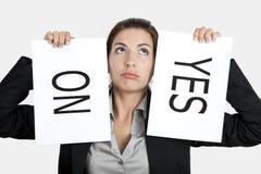 επιλογή αριθ. ναι Στοκ φωτογραφία με δικαίωμα ελεύθερης χρήσης
