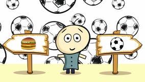 Επιλογή με τα μαύρα soccerballs διανυσματική απεικόνιση
