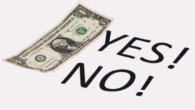 Επιλογή στο αμερικανικό δολάριο Στοκ φωτογραφία με δικαίωμα ελεύθερης χρήσης