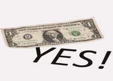 Επιλογή στο αμερικανικό δολάριο Στοκ Φωτογραφία