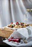 Επιλογή του crostini και του bruschetta στοκ εικόνες με δικαίωμα ελεύθερης χρήσης