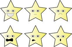Επιλογή των αστεριών με τις διαφορετικές εκφράσεις απεικόνιση αποθεμάτων