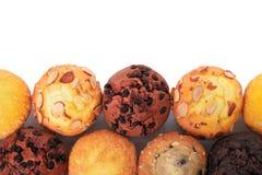 Επιλογή των τοπ συνόρων άποψης διάφορων muffin κέικ Στοκ φωτογραφίες με δικαίωμα ελεύθερης χρήσης