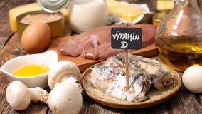 Επιλογή των τροφίμων υψηλή στη βιταμίνη d στοκ φωτογραφίες με δικαίωμα ελεύθερης χρήσης