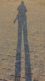 Επιμηκυμένη σκιαγραφία Στοκ φωτογραφίες με δικαίωμα ελεύθερης χρήσης