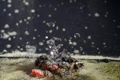 Επινοητικά γλυπτά των σταγονίδιων νερού Στοκ εικόνες με δικαίωμα ελεύθερης χρήσης