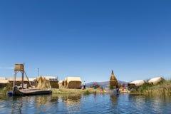 Επιπλέοντα νησιά Titino Uros στη λίμνη Titicaca Στοκ εικόνα με δικαίωμα ελεύθερης χρήσης