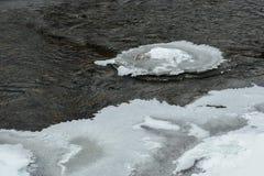 Επιπλέοντες πάγοι πάγου στα βαθιά νερά Στοκ Εικόνες