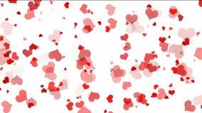 Επιπλέουσες καρδιές πέρα από το άσπρο υπόβαθρο διανυσματική απεικόνιση