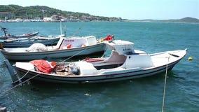 Επιπλέοντα αλιευτικά σκάφη απόθεμα βίντεο