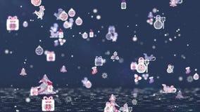 Επιπλέοντα εικονίδια Χριστουγέννων απεικόνιση αποθεμάτων