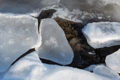 Επιπλέοντες πάγοι πάγου στη θάλασσα στοκ εικόνες