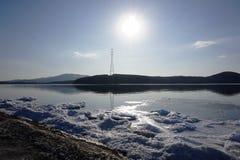 Επιπλέοντες πάγοι πάγου στη θάλασσα Στοκ Εικόνα