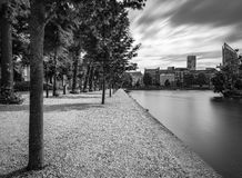Επιπλέοντες πάκτωνες σε Het Binnenhof το Hauge Στοκ Εικόνα