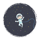 Επιπλέων αστροναύτης ελεύθερη απεικόνιση δικαιώματος