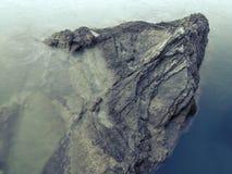 Επιπλέων βράχος Στοκ Φωτογραφίες