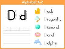 Επισημαίνοντας φύλλο εργασίας αλφάβητου Στοκ εικόνα με δικαίωμα ελεύθερης χρήσης
