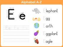 Επισημαίνοντας φύλλο εργασίας αλφάβητου Στοκ Εικόνες
