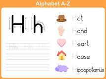 Επισημαίνοντας φύλλο εργασίας αλφάβητου Στοκ Εικόνα