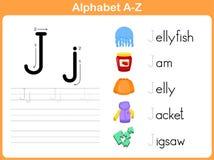 Επισημαίνοντας φύλλο εργασίας αλφάβητου Στοκ εικόνες με δικαίωμα ελεύθερης χρήσης
