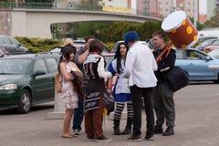 Επισκέπτες που μιλούν σε Animefest, anime σύμβαση Στοκ Εικόνες