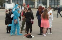 Επισκέπτες που μιλούν σε Animefest, anime σύμβαση Στοκ εικόνες με δικαίωμα ελεύθερης χρήσης