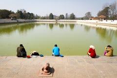 Επισκέπτες σε Siddha Pokhari Στοκ εικόνες με δικαίωμα ελεύθερης χρήσης