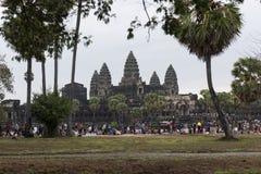 Επισκέπτες, Angkor Wat στην Καμπότζη Στοκ Εικόνες