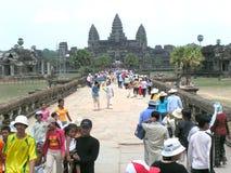 Επισκέπτες - Angkor Wat Στοκ Φωτογραφία