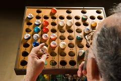 Επισκέπτης Bingo στην εργασία Στοκ φωτογραφία με δικαίωμα ελεύθερης χρήσης